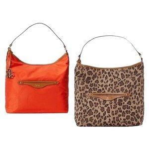 NWOT Ralph Lauren Reversible Nylon Hobo Bag
